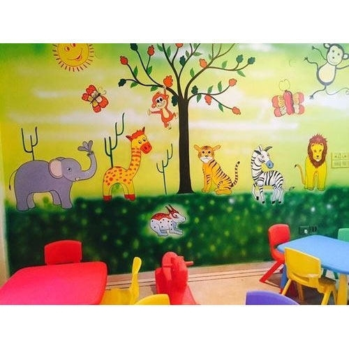 Kids Class Room Wall Art Painting At Rs 60 /square Fit | Bacchon Ke In Kids Wall Art (Image 2 of 10)