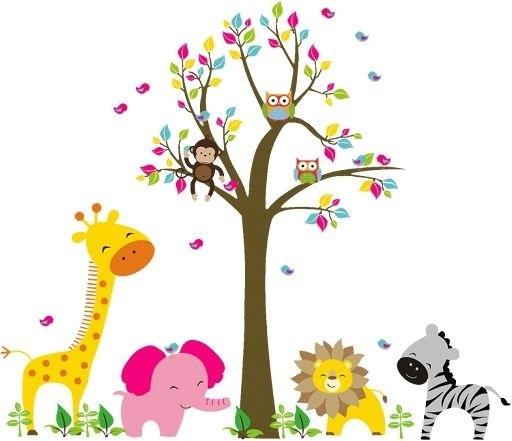 Kids Wall Art Lion Elephant Giraffe Monkey Animal In The Zoo Beside Throughout Kids Wall Art (Image 6 of 10)