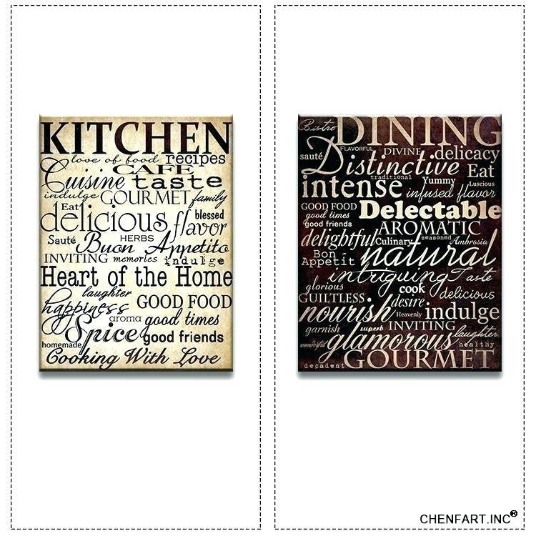 Kitchen Artwork Decor Kitchen Framed Wall Art Plain Kitchen Wall Regarding Kitchen Canvas Wall Art Decors (Image 6 of 10)