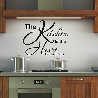 Kitchen Is Heart Of The Home Wall Art Sticker Quote – 4 Sizes Inside Wall Art For Kitchen (Image 4 of 10)