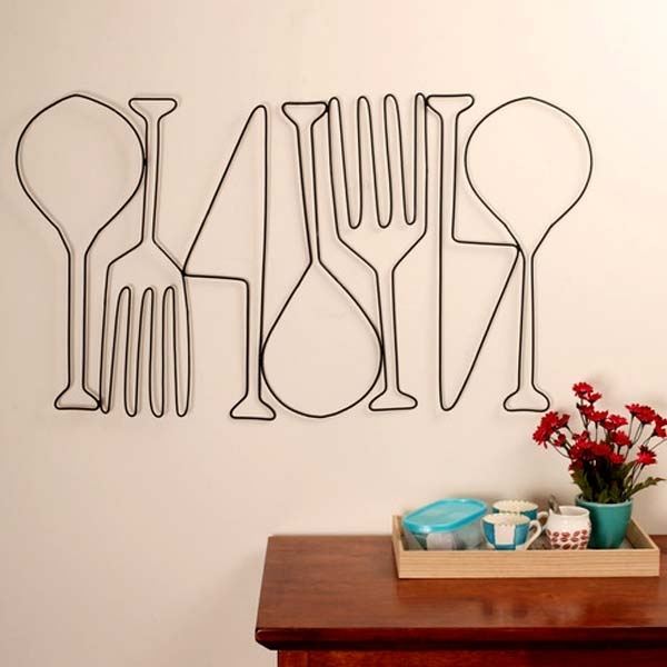 Kitchen Metal Wall Art | Food For Thought | Dining Room Wall Decor Inside Kitchen Metal Wall Art (Image 4 of 10)