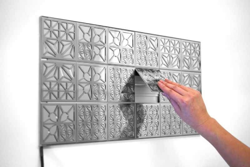 Kumiko Modular Oled Wall Tiles Function As Lighted Wall Art Intended For Lighted Wall Art (Image 2 of 10)