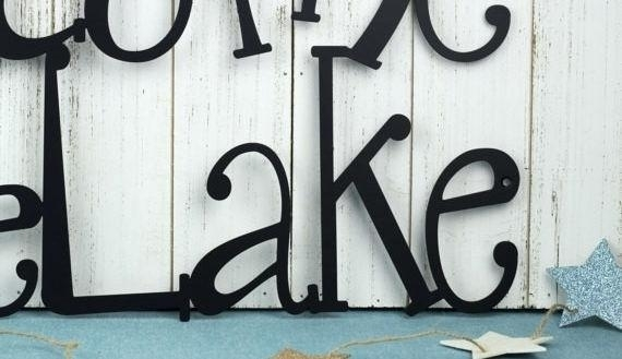 Lake House Wall Art Stupefying Lake House Wall Art Welcome To The Regarding Lake House Wall Art (Photo 9 of 10)