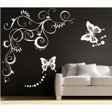Large Butterfly Wall Sticker, Butterflies Wall Decal For Your Bedroom (Image 7 of 10)