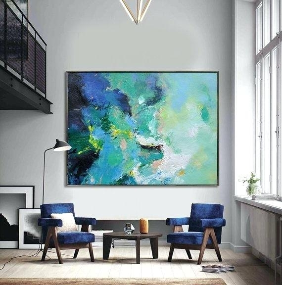 Large Canvas Painting Huge Abstract Wall Art Very Large Wall Art Pertaining To Extra Large Wall Art (View 2 of 10)
