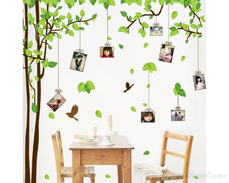 Large Family Tree Wall Decals – You Can Place Photos Around The Tree Inside Family Tree Wall Art (Image 5 of 10)