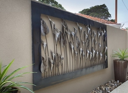 Large Metal Garden Wall Perfect Large Outdoor Wall Art – Wall Inside Outdoor Wall Art (Photo 9 of 10)