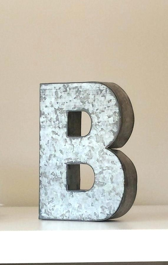 Large Metal Letters For Wall Decor – Winsoc Regarding Metal Letter Wall Art (Photo 10 of 10)