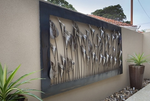 Large Metal Outdoor Nice Outdoor Metal Wall Decor – Wall Decoration Pertaining To Outdoor Metal Wall Art (Image 4 of 10)