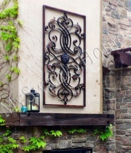 Large Outdoor Metal Wall Decor | Sevenstonesinc Within Large Outdoor Metal Wall Art (Image 8 of 10)