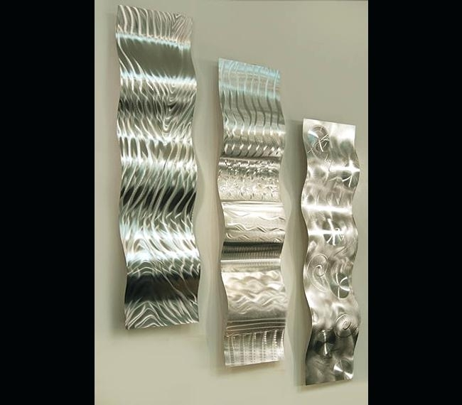 Large Silver Wall Art Forces Of Nature Modern Abstract Silver Metal For Silver Wall Art (View 10 of 10)