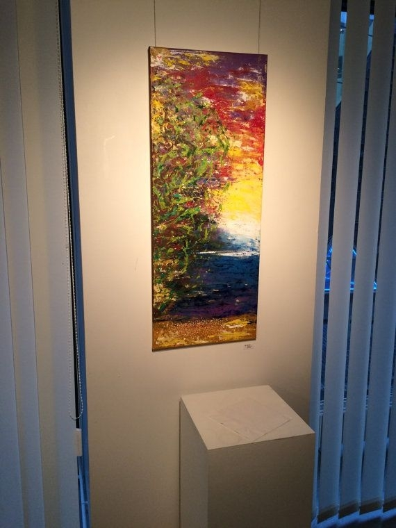 Large Vertical Painting, Large Vertical Art Canvas, Long Vertical Regarding Vertical Wall Art (Photo 7 of 10)