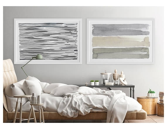 Large Wall Art, Contemporary Wall Art, Horizontal Wall Art, Abstract With Regard To Horizontal Wall Art (Photo 2 of 10)