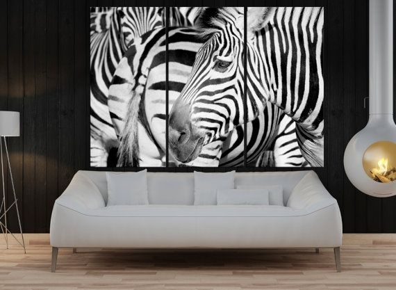 Large Wall Art For Living Room, Zebra Canvas Print Extra Large Wall Regarding Extra Large Wall Art (Image 8 of 10)