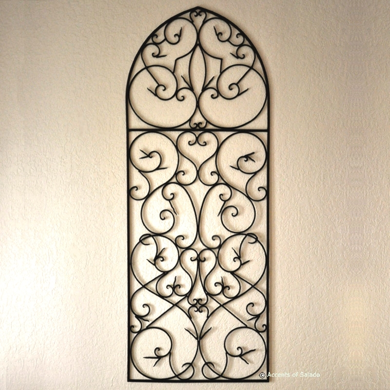Large Wrought Iron Wall Decor Indoor : Perfect Large Wrought Iron With Wrought Iron Wall Art (View 9 of 10)