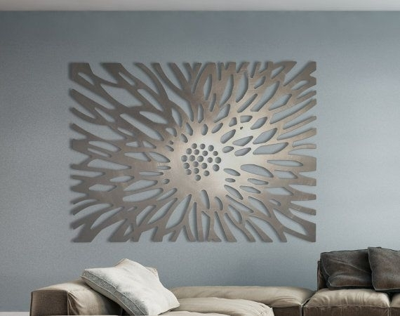 Laser Cut Metal Decorative Wall Art Panel Sculpture For Home, Office Intended For Decorative Wall Art (Image 6 of 10)