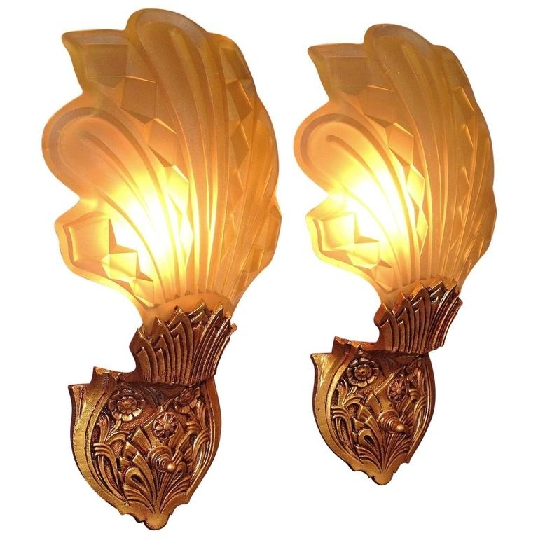 Late 1920S Early 1930S Art Deco Wall Sconces For Sale At 1Stdibs In Art Deco Wall Sconces (Photo 3 of 10)