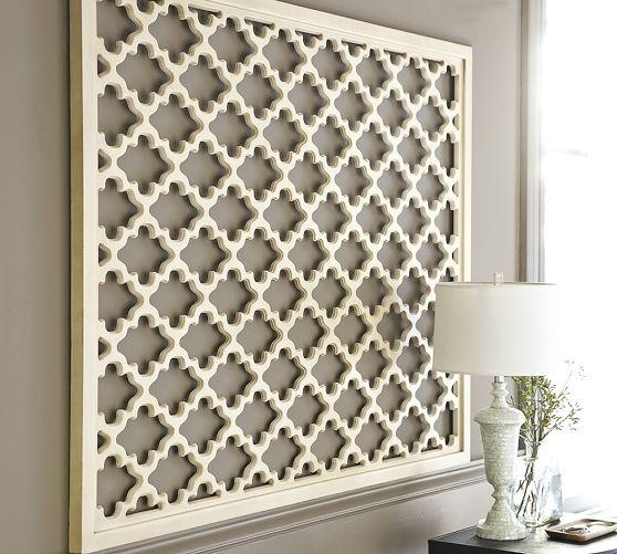 Lattice Panel White Wall Art With White Wall Art (Photo 9 of 10)