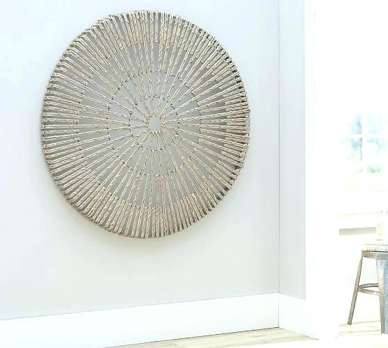 Lattice Wall Art Wall Art Pottery Barn Woven Wheel Wall Art Lattice Throughout Pottery Barn Wall Art (Image 6 of 10)