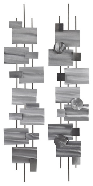 Lazy Susan Vertical Shapes Wall Decor – Contemporary – Metal Wall For Vertical Metal Wall Art (Image 2 of 10)
