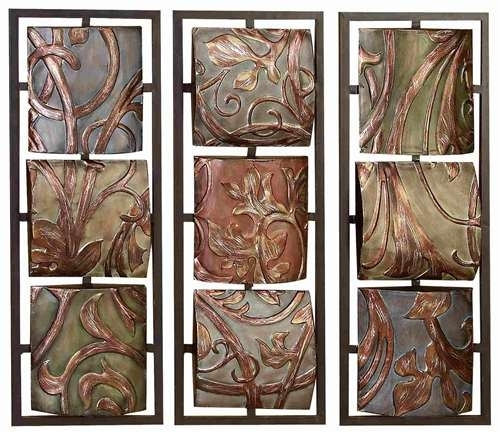 Leaf & Vine Textures – Floral Metal Wall Art Panels Intended For Metal Wall Art Panels (Image 4 of 10)
