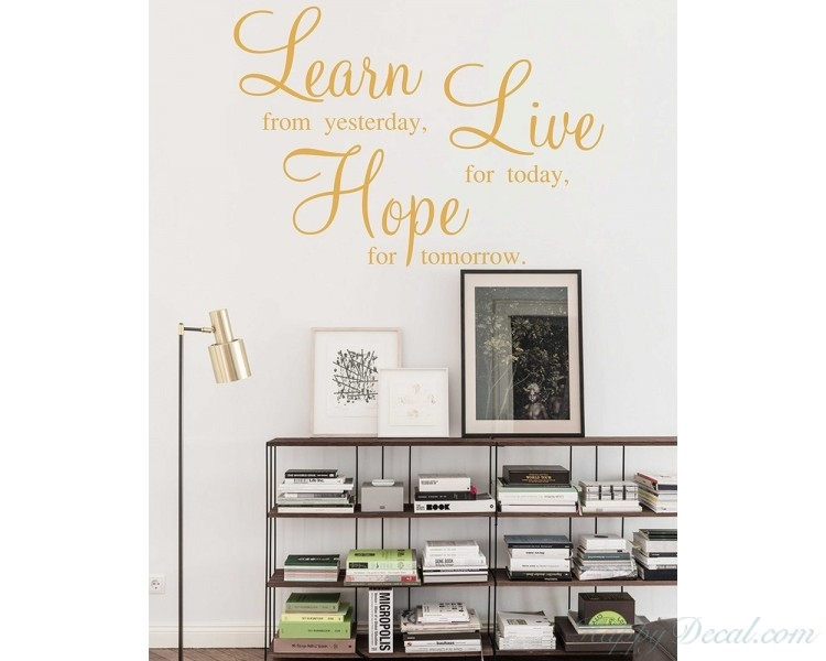 Learn Live Hope Wall Stickers – Quotes Vinyl Office Wall Art Inside Motivational Wall Art (View 6 of 10)