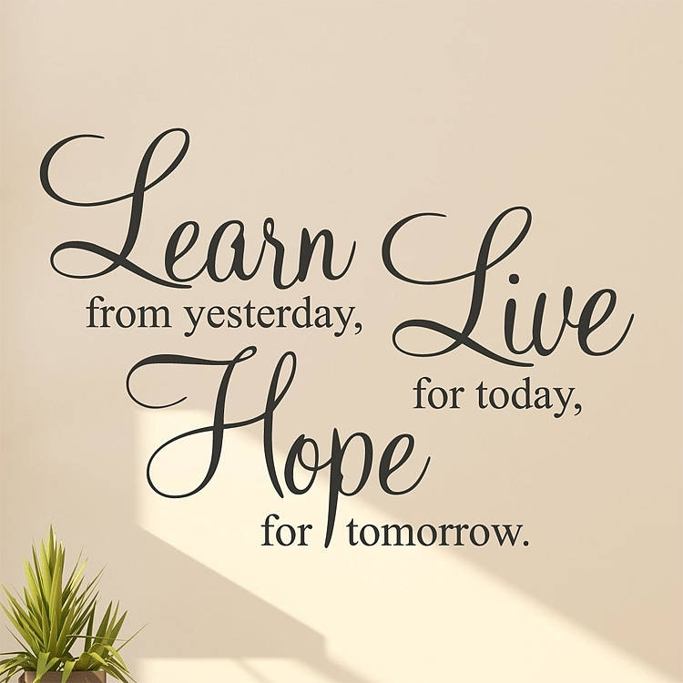 Learn Live Hope' Wall Stickers Quotesparkins Interiors Intended For Quote Wall Art (View 9 of 10)