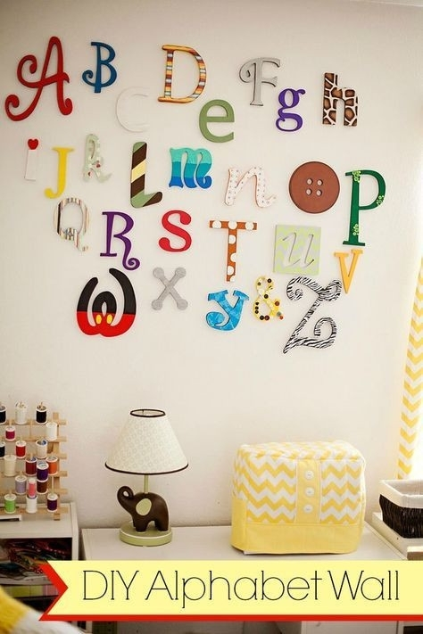 Letter E Room Decor Beautiful Alphabet Letters For Room Decorations With Regard To Alphabet Wall Art (View 10 of 10)