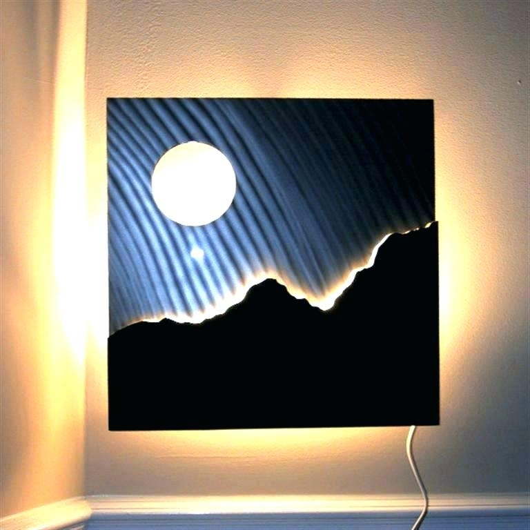 Lighted Wall Decorations Lighted Wall Decor Lighted Pictures Wall For Lighted Wall Art (Image 6 of 10)