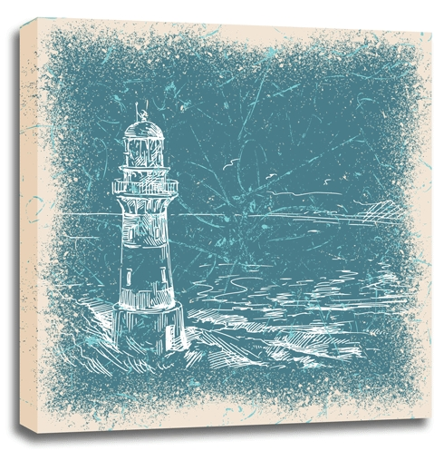 Lighthouse Canvas Wall Art 36×36 | Trendy Wall Squares Inside Teal Wall Art (Photo 10 of 10)