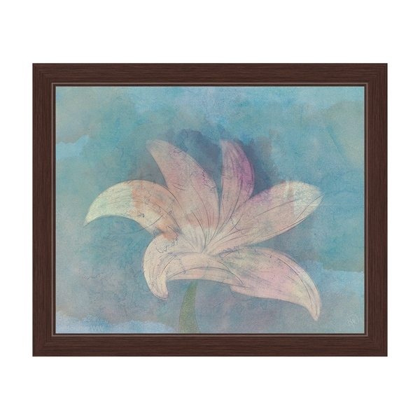 Lilly On Sky' Framed Graphic Wall Art – Free Shipping Today Regarding Overstock Wall Art (Photo 7 of 10)