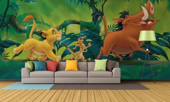 Lion King Paper Wallpaper | Homewallmurals Regarding Lion King Wall Art (Image 2 of 10)