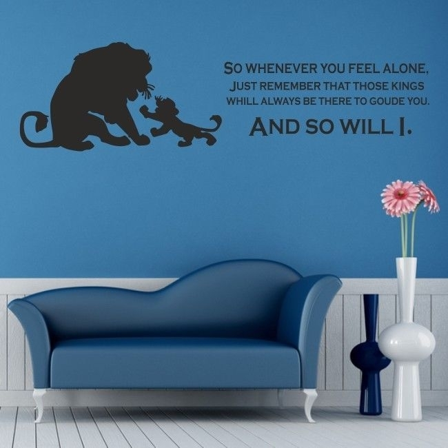 Lion King Wall Art Sticker Disney Kids Nursery Bedroom Decal Quote Intended For Lion King Wall Art (Image 3 of 10)