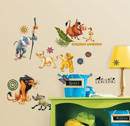 Lion King Wall Stickers – Disney Lion King Wall Art Stickers With Lion King Wall Art (Image 6 of 10)