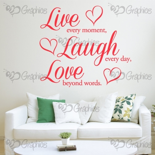 Live, Laugh, Love Wall Art Quote – Bgraphics Intended For Live Laugh Love Wall Art (Image 10 of 10)