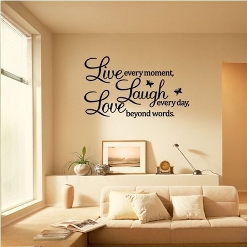 Live Laugh Love Wall Art Quote Butterflies (Transparent Border) 40 Throughout Live Laugh Love Wall Art (Photo 1 of 10)