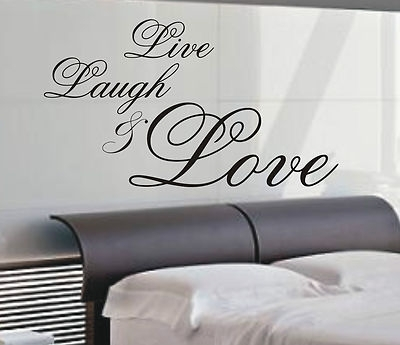 Live Laugh & Love Wall Art Sticker Quote – 4 Sizes – Bedroom Wall In Live Laugh Love Wall Art (View 7 of 10)