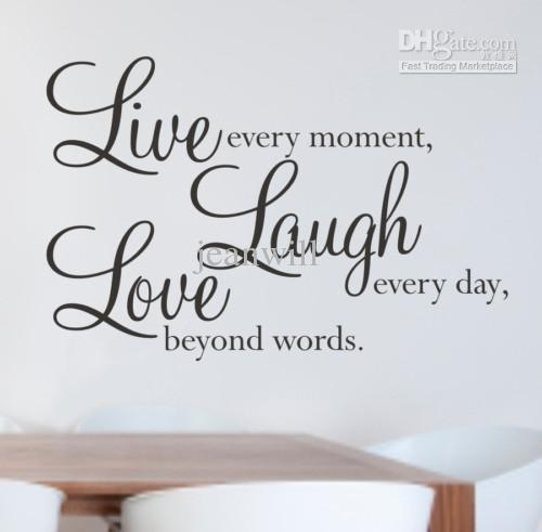 Live Laugh Love Wall Quote Decal Decor Sticker Lettering Saying In Live Laugh Love Wall Art (Photo 2 of 10)
