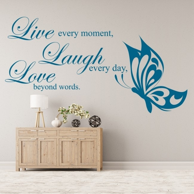 Live Laugh Love Wall Sticker Love Wall Art For Live Laugh Love Wall Art (View 3 of 10)