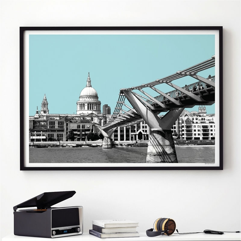 London Wall Art Print – London Skyline – St Paul's Cathedral For London Wall Art (Image 8 of 10)