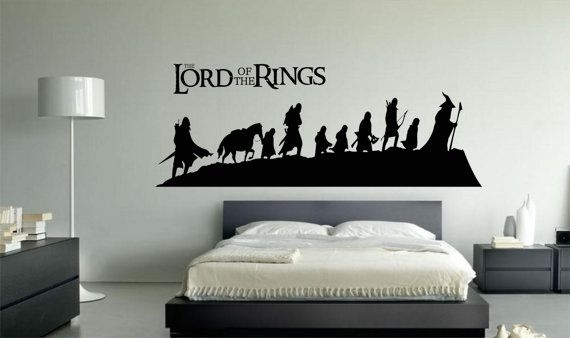 Lord Of The Rings Vinyl Wall Art Decal Sticker 002Directdecals Regarding Lord Of The Rings Wall Art (Image 5 of 10)