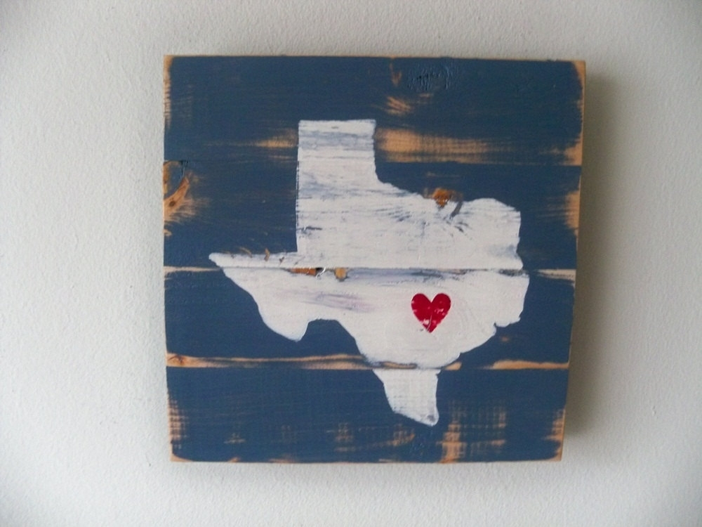 Love Austin Texas Vintage Texas Wall Art – Wall Decoration And Wall Pertaining To Texas Wall Art (Image 2 of 10)