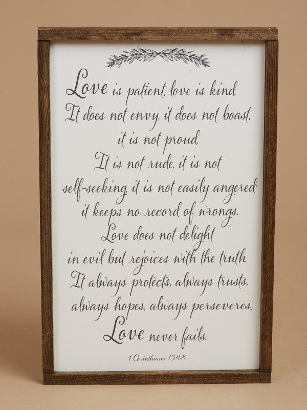 Love Is Patient Wall Art – Gifts/home Decor Within Love Is Patient Wall Art (Image 3 of 10)