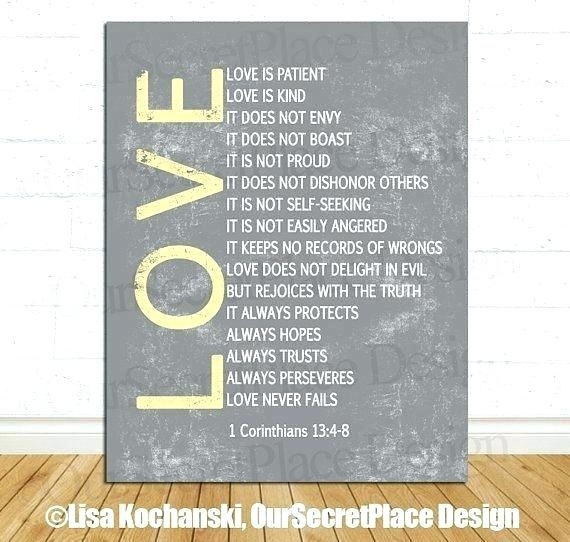 Love Is Patient Wall Art Kind Important Dates Sign Custom Wedding In Love Is Patient Wall Art (Image 4 of 10)