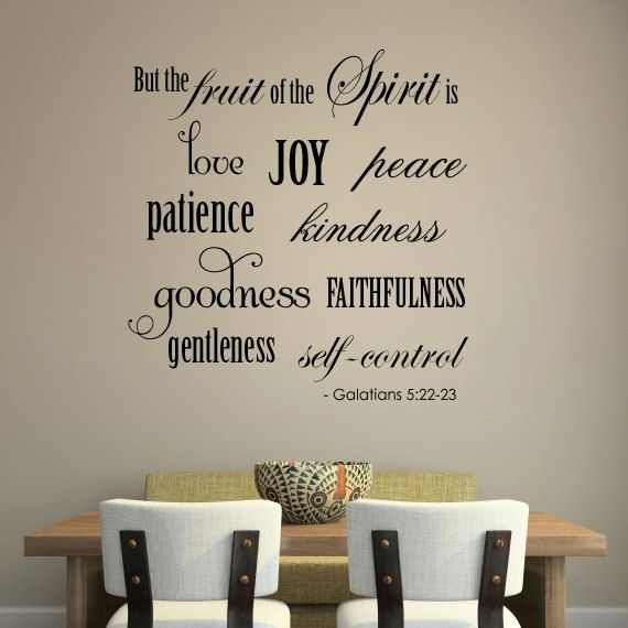 Love These Scripture Word Art Wall Decals At Etsya Little With Regard To Word Art For Walls (Photo 10 of 10)