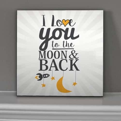 """Love You To The Moon & Back"""" – Wall Art 