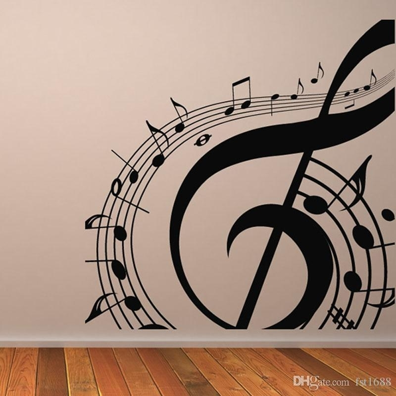 M 003 Diy Musical Notation Home Decor Music Wall Sticker Removable Intended For Music Wall Art (Image 5 of 10)