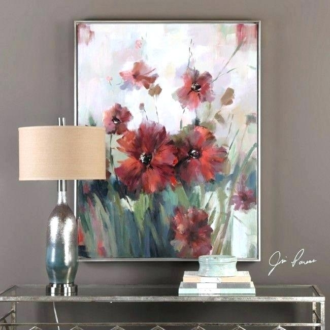 Magnificent Uttermost Wall Decor In Art Fresh Blooming Red Regarding Uttermost Wall Art (Image 4 of 10)