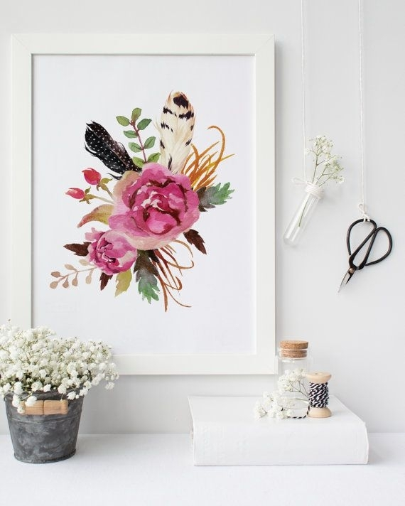 Majestic Design Ideas Floral Wall Art Modern Home The Best 10 Within Floral Wall Art (Image 6 of 10)