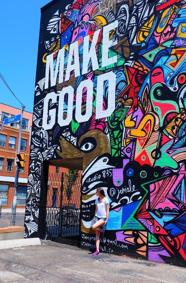 Make Good 2 | Vacation | Pinterest | Toronto City, Graffiti And Toronto Intended For Graffiti Wall Art (Photo 2 of 10)